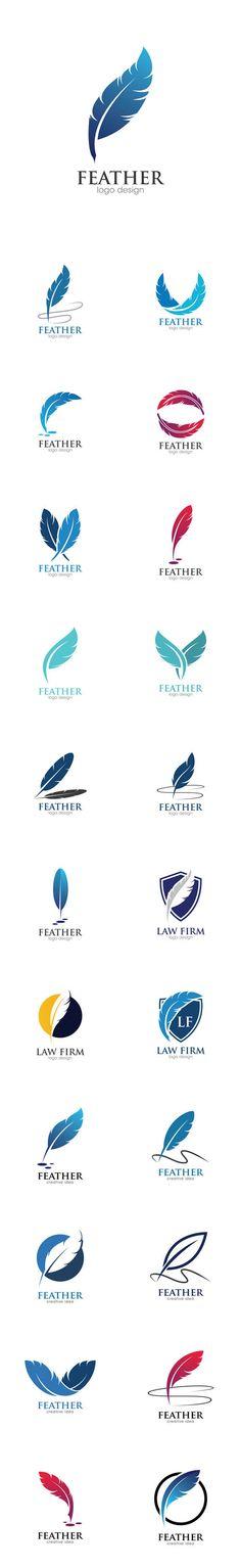 Vectors - Feather Creative Concept Logo Design Template