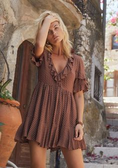 Both Comfort and Style Take Centre Stage In This Auguste The Label Collection Simple Dresses, Casual Dresses For Women, Cute Dresses, Short Dresses, Mini Dresses, Boho Mini Dress, Boho Summer Dresses, Bohemian Dresses, Wrap Dresses