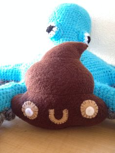 Deuce the Adorable Poop Plushie by beachbunny on Etsy