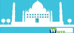 Free Blue Background Color with White Vector Mosque