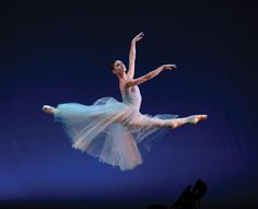 "Kathleen Breen Combes in George Balanchine's ""Serenade"" (Photo by Gene Schiavone)"