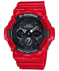 G-Shock Men's Analog-Digital Red Resin Bracelet Watch G Shock Red, New G Shock, G Shock Black, Amazing Watches, Cool Watches, Watches For Men, Casio G Shock Watches, Timex Watches, Men's Watches