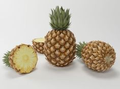 pineapple 3d model max 1