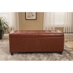 Found it at Wayfair - Classic Waxed Texture Storage Ottoman