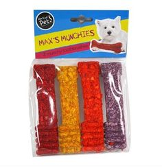 4 pack Dog Munchy Toothbrushes healthy and delicious snack Best before: Sep 2016