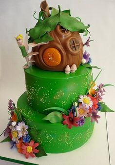 Tinkerbell theme cake best cake I have ever seen!!!!!!!!