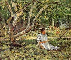 Theodore Robinson - Nettie Reading, 1894 (966×808)