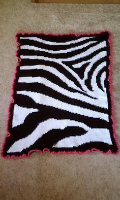 Baby blanket. Free crochet pattern.