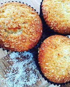 Banana Coconut Muffins  – the pink scoop