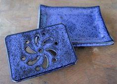 Luka Blue Soap Dish