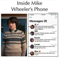 Memes Stranger Things - 7 - Wattpad Read 6 from the story Memes Stranger Things by (TheSilentScream) with 525 reads. Watch Stranger Things, Stranger Things Have Happened, Stranger Things Netflix, Stranger Things Characters, Steve Vai, Movies And Series, Movies And Tv Shows, Stranger Things Merchandise, Saints Memes