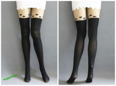 Hot Sale Fashion Japan Style Cartoon Print Sock Tattoo Tights Pantyhose Leggings   eBay