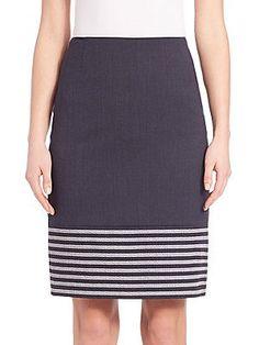 BOSS Vafila Pencil Skirt - Blue - Size