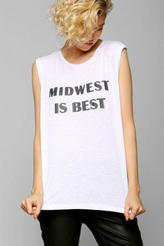 Friend Of Mine Midwest Best Muscle Tee #urbanoutfitters