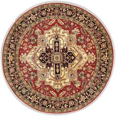 ecarpetgallery Hand-knotted Serapi Heritage Brown Wool Rug