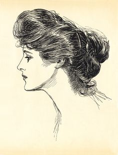Charles Dana Gibson (American illustrator, 1867-1944) 1901-1902 pen and ink on paper illustration for Life Publishing Co.; published in the artist's collection The Social Ladder (1902)