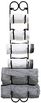 Amazon.com: DecoBros Wall Mount Multi-Purpose Towel/Wine/Hat Rack, Bronze: Home & Kitchen