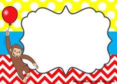 FREE Curious George the Monkey Invitation Templates Curious George Invitations, Monkey Invitations, Curious George Party, Curious George Birthday, Free Invitation Templates, Free Printable Birthday Invitations, 9th Birthday, It's Your Birthday, Birthday Ideas