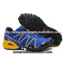 Barcelona Zapatillas Salomon Speedcross 3 CS Hombre Azul Negro Amarillo