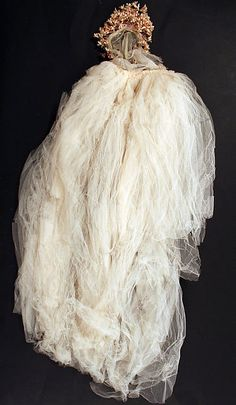 Wedding ensemble - veil, Joseph Whitehead designer, American, 1939