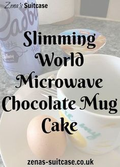 New Slimming World Microwave Chocolate Mug Cake. This recipe is for a low syn slimming world or diet chocolate mug cake. Takes less than 2 minutes to make and makes a satisfying quick dessert for anyone trying to lose weight (health snacks slimming world) Slimming World Deserts, Slimming World Puddings, Slimming World Recipes Syn Free, Slimming World Syns, Slimming Eats, Slimming World Chocolate Cake, Slimming World Breakfast, Microwave Chocolate Mug Cake, Chocolate Mugs