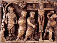 LATE ANTIQUITY Suicide of Judas and Crucifixion of Christ   from ivory box   Christ is a martyr   400 CE   Google Image Result for http://www.museumsyndicate.com/images/4/36771.jpg