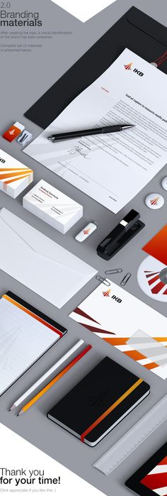 IKB Corporate identity by Łukasz Pachytel, via Behance   Branding created for the Polish construction company IKB. The project involved the creation of logo and corporate identity.