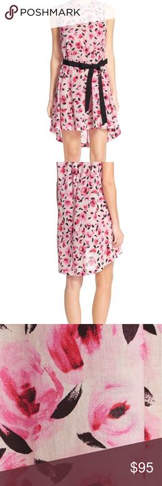"Kate Spade Floral Dress Features: Sleeveless, jewel neck, unlined with fitted grosgrain ribbon trim, hi-lo hem. 33"" front length, 35"" back length. No trades but will consider reasonable offer kate spade Dresses"