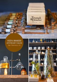 Veer & Wander apothecary and salon in San Francisco. From the Spotted SF blog.