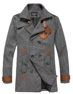 Grey Coat + Brown Leather