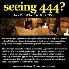 Seeing 444? Learn more at http://numerologysecrets.net/numerology-444-meaning/