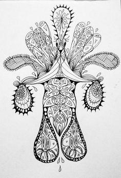 #Impulseearth #Casablanca #Chile #Casa Botha #Mandala #Zentangle #Art #Miss Miri #Abstract #Meryem Simsek #Rooster #Duck #Black and White #B&W #Animals #Drawing