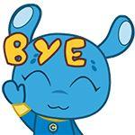 31 Funny alien rabbit emoj gifs Emoticon, Emoji, Gifs, Aliens Funny, Bye Bye, Smurfs, Rabbit, Chinese, Fictional Characters