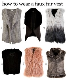 How to wear a faux fur vest   Styling You