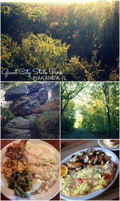#Travel to Illinois Giant City State Park for amazing rock formations, trails and the best food at Giant City Lodge.
