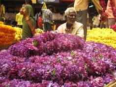 Flower market in Bangalore, India