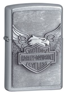 Iron Eagle Emblem Harley-Davidson Zippo Outdoor Indoor Windproof Lighter Free Custom Personalized Engraved Message Permanent Lifetime Engraving on Backside Zippo Harley Davidson, Harley Davidson Motor, Harley Davidson Street, Police Tactical Gear, Iron Eagle, Eagle Emblems, Eagle Wings, Moda Masculina