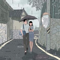 Behind The Scenes By worldofartists Cute Couple Drawings, Cute Couple Art, Aesthetic Anime, Aesthetic Art, Couple Illustration, Illustration Art, Anime Couples, Cute Couples, Love Cartoon Couple