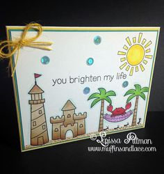 Designed by Larissa Pittman of Muffins and Lace using Lawn Fawn Life is Good Stamp Set Sideview