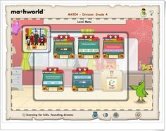 """""""Mathworld Division 4"""" (Lessons.e-learningforkids.org) Smart Board Activities, Learning Sites, Interactive Learning, Division, Education, Maths, Kids, Halloween Games, Maths Area"""