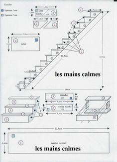 les mains calmes Miniature stairs tutorial - staircase plans
