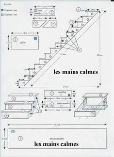 les mains calmes Miniature stairs tutorial - staircase plans
