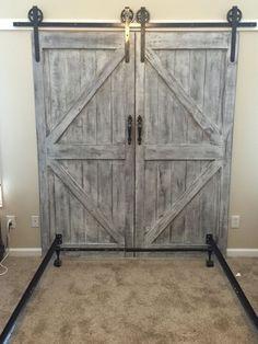 Custom made barn door headboard queen with by MakeItBuildItLoveIt