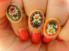 A special Triptych micro mosaic rings  small by RAKcreations