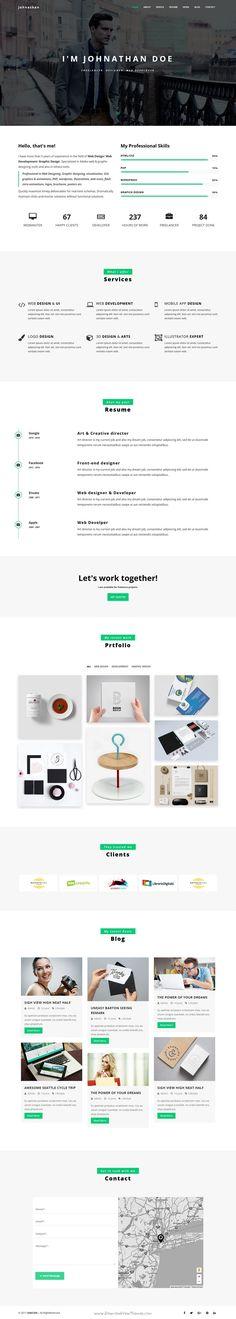 Devin Responsive Personal Portfolio Theme Modern, Resume and - company portfolio template