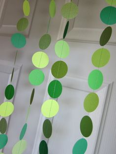 Paper Garland, Shades of Green, St. Patrick's Day Decoration,. $10.00, via Etsy.