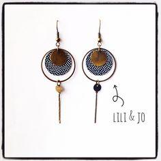 Collection bohème : boucles d'oreille noires et bronzes : Boucles d'oreille par lili-and-jo