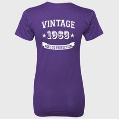 Vintage 1963 Aged To Perfection - Ladies' 100% Ringspun Cotton nano-T® Back Print Only