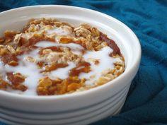 Coconut Pumpkin Swirl Baked Oatmeal