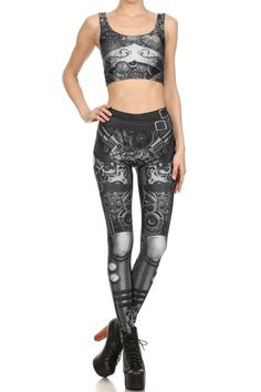 Steampunk Leggings - Monochromatic - POPRAGEOUS  - 1